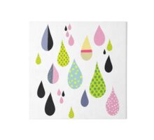 Colorful drops dripping tears Art Board