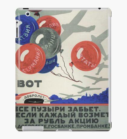 Archive Soviet propaganda poster iPad Case/Skin