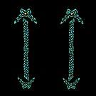 Celtic Knotwork - Gold and Teal by arkadyrose