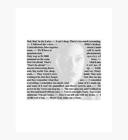 Firefly Quotes - River Tam Photographic Print