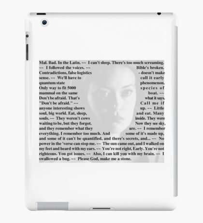 Firefly Quotes - River Tam iPad Case/Skin