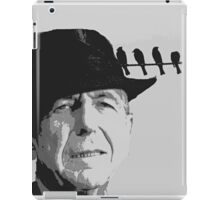 Leonard Cohen and Birds on a Wire iPad Case/Skin