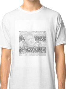 """Firefly Quotes - """"Wash"""" Washburne Classic T-Shirt"""