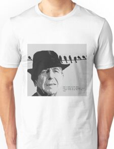 Cohen's Bird on a Wire Unisex T-Shirt