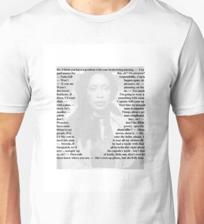 Firefly Quotes - Zoe Washburne Unisex T-Shirt