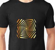 Golden fututistic art Unisex T-Shirt