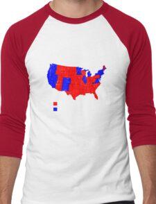 Hillary - Dumbfuckistan vs Donald Trump - United States Shirt Men's Baseball ¾ T-Shirt