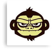 gorille cartoon tête humour Canvas Print