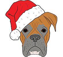 Christmas Festive boxer dog Photographic Print