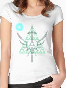 Navi triforce Women's Fitted Scoop T-Shirt