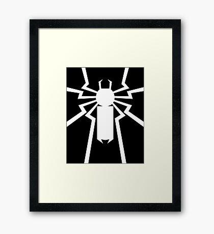 Flash's Spider Framed Print
