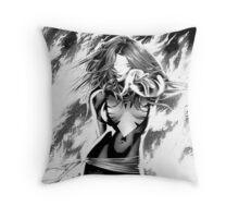 Black And White Dark Phoenix Throw Pillow