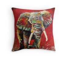 A Crimson Charge by Thomas Andrew Throw Pillow