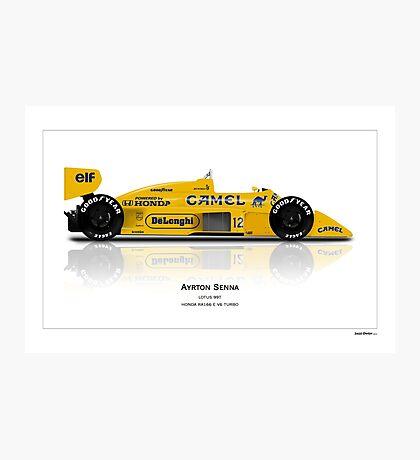 Formula 1 - Ayrton Senna - Lotus 99T - Art Print Photographic Print