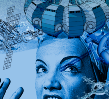 Carmen Miranda is A Cosmic Girl! Sticker