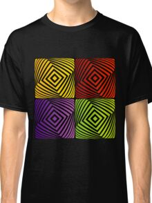 Colorful optical illusion with squares  Classic T-Shirt
