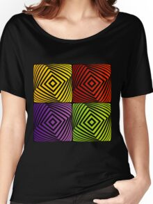 Colorful optical illusion with squares  Women's Relaxed Fit T-Shirt