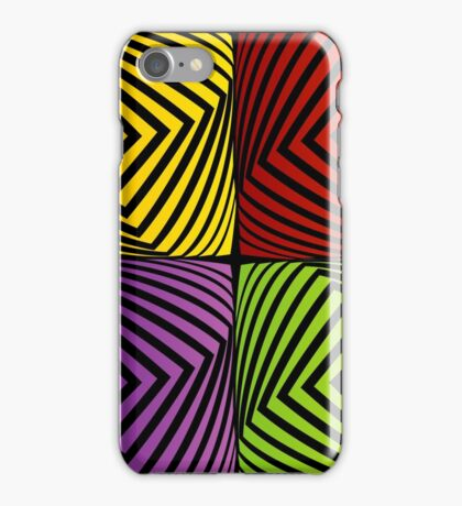 Colorful optical illusion with squares  iPhone Case/Skin