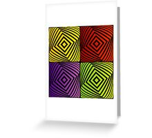 Colorful optical illusion with squares  Greeting Card