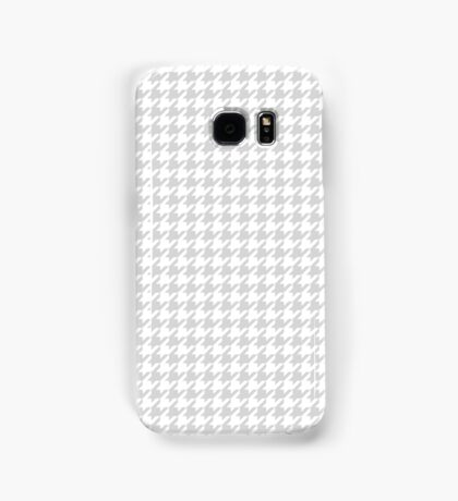 Houndstooth Gray And White Samsung Galaxy Case/Skin