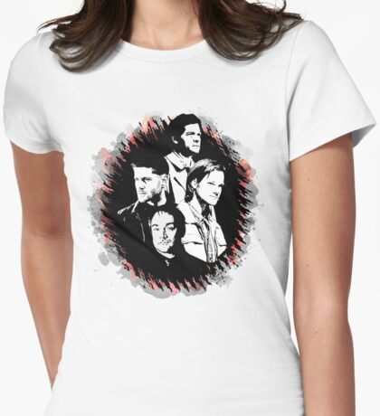 Supernatural - Heaven, Earth, and Hell Womens Fitted T-Shirt