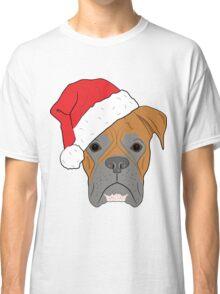 Christmas Festive boxer dog Classic T-Shirt
