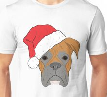 Christmas Festive boxer dog Unisex T-Shirt