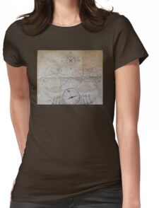 vintage map. Womens Fitted T-Shirt