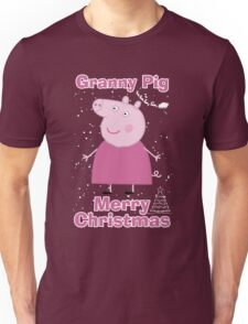 Granny pig (merry christmas) Unisex T-Shirt