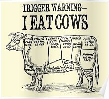 Meat Eater trigger warning Poster