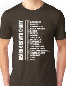 Beard Length Ruler T-shirt Growth Chart Joke Gift Men's Funny Mens Unisex T-Shirt