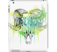 Geometric watercolor Ram skull iPad Case/Skin
