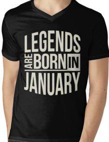 Gift birthday Legends are born in January Shirt Mens V-Neck T-Shirt