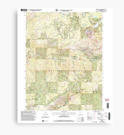 USGS TOPO Map California CA Sierra City 295198 2000 24000 geo Canvas Print