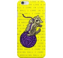 Wrecking Ball Kitty iPhone Case/Skin