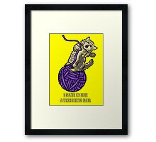 Wrecking Ball Kitty Framed Print