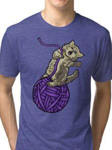 Wrecking Ball Kitty Tri-blend T-Shirt