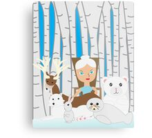 Mother Nature Winter Scene Metal Print