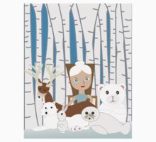 Mother Nature Winter Scene Kids Clothes