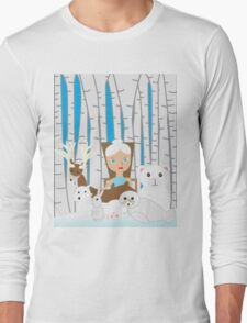Mother Nature Winter Scene Long Sleeve T-Shirt