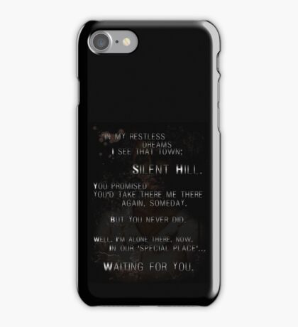 Silent Hill - Mary's Letter iPhone Case/Skin