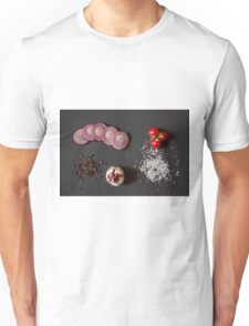 Raw vegetables for healthily cooking Unisex T-Shirt
