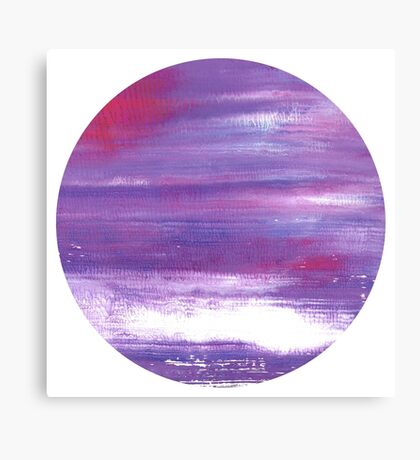 Japan moon : abstract purple Art Canvas Print