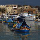 Marsaxlokk Boats ( 1:1 Version ) by wiggyofipswich