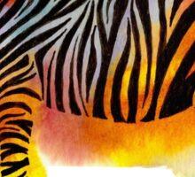 Think Zebras - Rainbow Watercolor Zebra Sticker