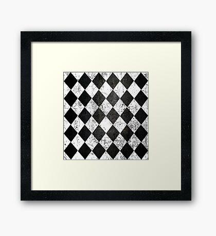 Black Diamonds Framed Print