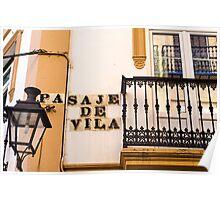Streets of Seville - Pasaje de Vila Poster
