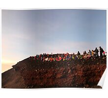Watching the Sunrise Atop Mt.Fuji Poster