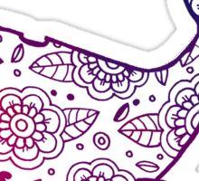 whale ii red/purple/blue  Sticker