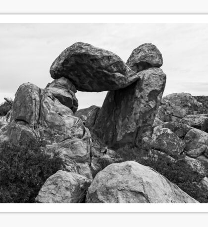 Rock formations in Big Bend National Park, Texas Sticker